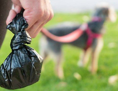 150x DOGGY POO BAGS  Pet Pooper Scooper Bag Dog Cat Waste Toilet Poo