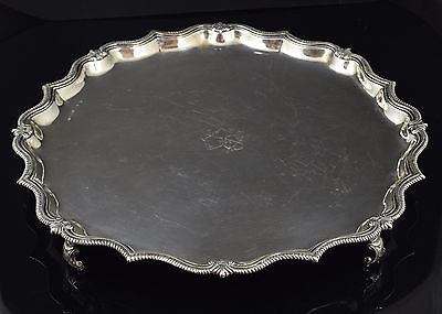 Solid silver tray. Blas de Amate, Seville, Spain, MID 18th century.