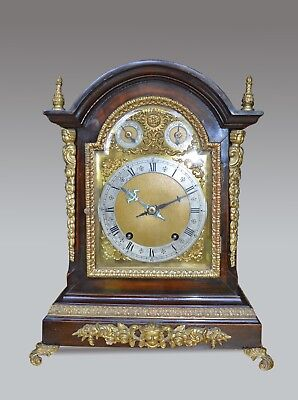 large Winterhalder & Hofmeier bracket clock table clock
