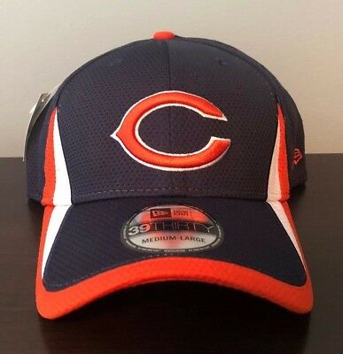 4edb07d18 Authentic Chicago Bears New Era 39Thirty Stretch Fit Baseball Hat Cap NFL ( NEW)