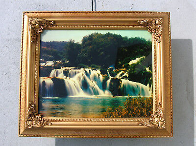 Moving Waterfall Lighted Motion Picture Mirror With Sound 16 13