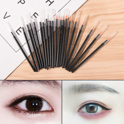 50Pcs Disposable Eyeliner Liquid Wand Applicator Brush Make up Brushes T Hh