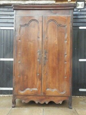 Wardrobe, French, oak, antique, armoire. 19th Century, very original, solid.