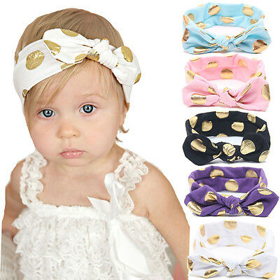 Baby Girls Toddler Cute Kids Turban Knot Rabbit Headband Bow Hairband Head Bands