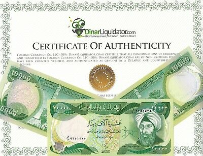 100,000 Iraqi Dinar (10) 10,000 Notes Circulated!! Authentic!!