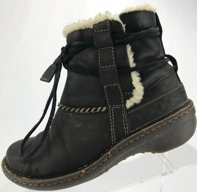 fb02e23d67a UGG AUSTRALIA CLEMENTINE Leather Shearling Lined Womens Ankle Boot ...