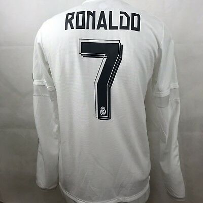 Details about Adidas Real Madrid Champions League Jersey Trikot Maillot L Ronaldo Rare Red