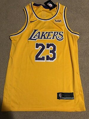 free shipping 1135a ee686 LOS ANGELES LAKERS LeBron James Icon Jersey Mens Large