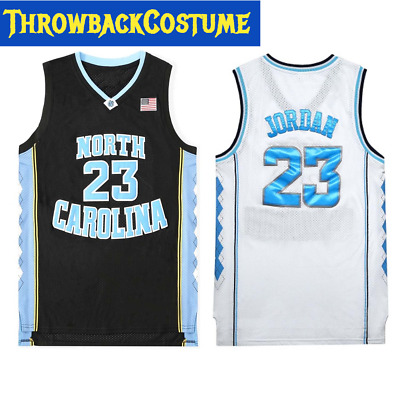 info for cf260 37ab8 THROWBACK MICHAEL JORDAN 23 NORTH CAROLINA TAR HEELS Basketball Jersey  Stitched