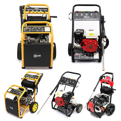4000 PSI 8HP 9-18 L/Min Petrol Powered High Power Pressure Jet Washer with Wheel