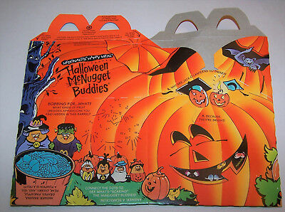Vintage 1993 Halloween McNugget Buddies McDonald's Happy Meal Lunch Box