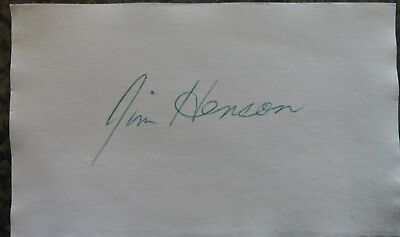 Jim Henson signed index card Muppet Show Kermit 3x5