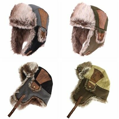 c9e444d09 SIGGI FAUX FUR Trapper Hat for Men Cotton Warm Ushanka Russian ...
