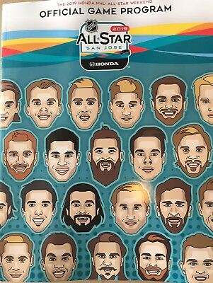 2019 All Star Game Program National Hockey League Nhl See Ebay Store Puck Patch