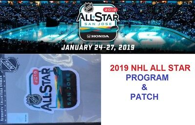 2019 Nhl All Star Game Program & Patch Combo Two (2) Items San Jose Sharks Host