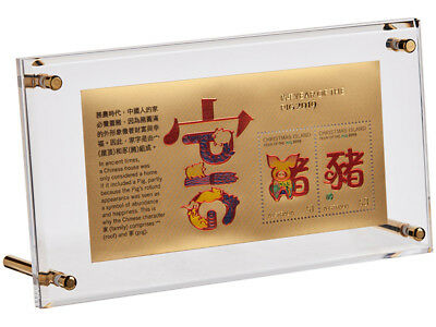 Australia Post 2019 Year of the Pig Gold minisheet with stand