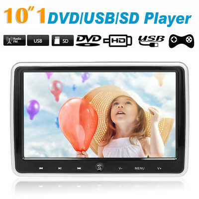 10.1 Inches Car Headrest DVD Player Auto Monitor Touch Button Built-in Speakers