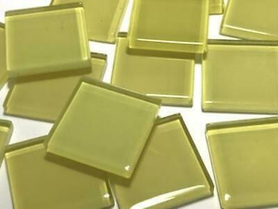 Yellow Coloured Glass Mosaic Tiles 2.5cm (No. 3) - Art Craft Supplies