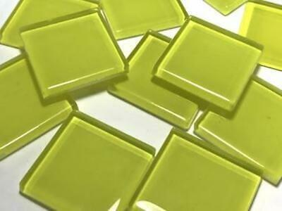 Yellow Coloured Glass Mosaic Tiles 2.5cm (No. 4) - Art Craft Supplies
