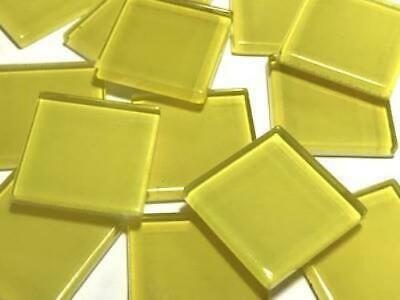 Yellow Coloured Glass Mosaic Tiles 2.5cm (No. 5) - Art Craft Supplies