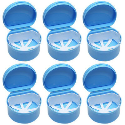 Denture Bath Box Cases Dental False Teeth Storage Box with Hanging Net Container