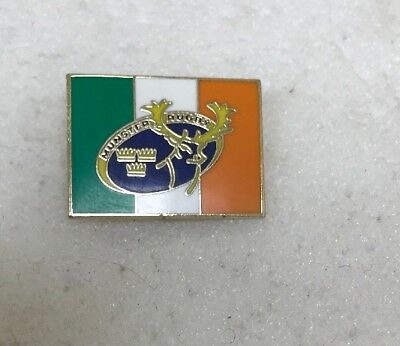 Very Rare Munster & Ireland Rugby Union Supporter Enamel Badge - Wear With Pride
