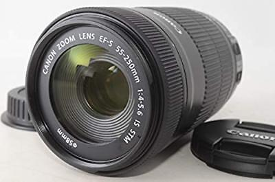Canon telephoto zoom lens EF-S55-250 mm F4-5.6 IS STM APS-C compatible Japan F/S