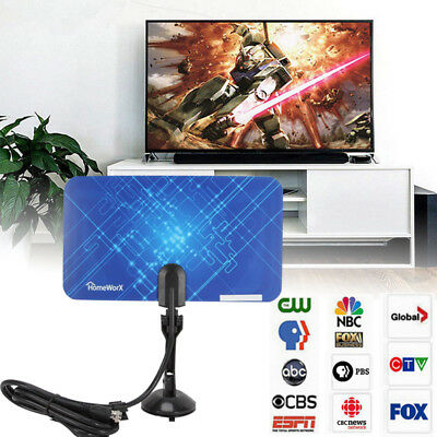 Digital HDTV Indoor Freeview Antenna with TV Aerial Amplifier40000M Range-Thin