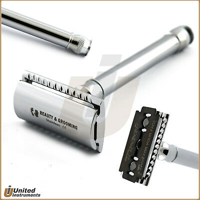 Men's Classic Double Edge Chrome Shaving Safety Razor Adjustable + Free Blade CE