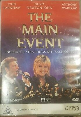 The Main Event Rare Music Dvd John Farnham Olivia Newton-John Anthony Warlow Oop
