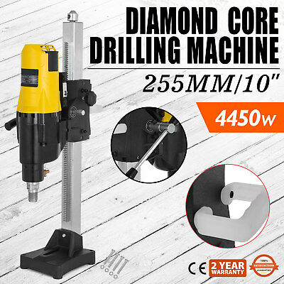 "8/"" Diamond Core Drill Machine for Concrete Vertical Stand Press Drilling 3980W"