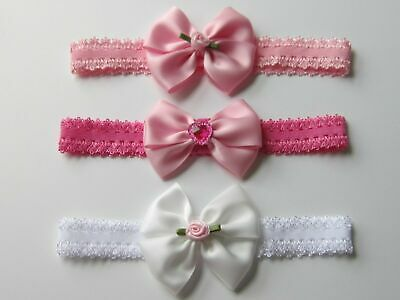 UK Baby Girl Hair Band Headband Hair Accessory Ribbon Elastic Headdress Headwrap