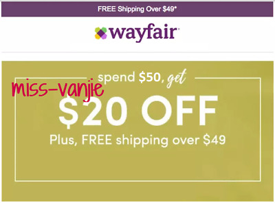 Wayfair $20 off $50 C0UP0N—FASTEST SHIPMENT! 💯% POSITIVE!