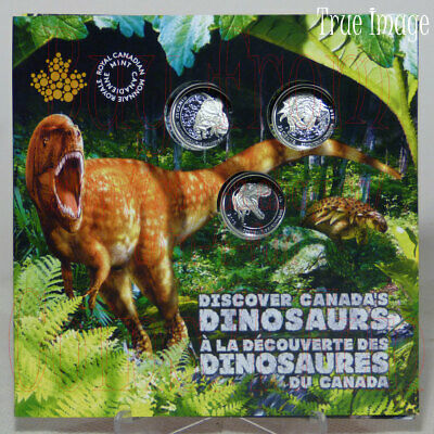 2019 - Dinosaurs of Canada - 25-cent 3-Coin Gift Set with 3D pop-up folder