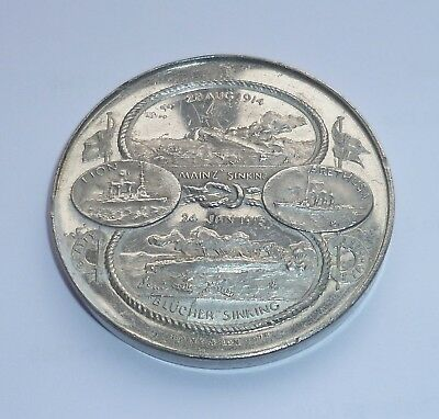 SPINK Commemorative Medallion BATTLES OF HELIGOLAND BIGHT 1914, DOGGER BANK 1915
