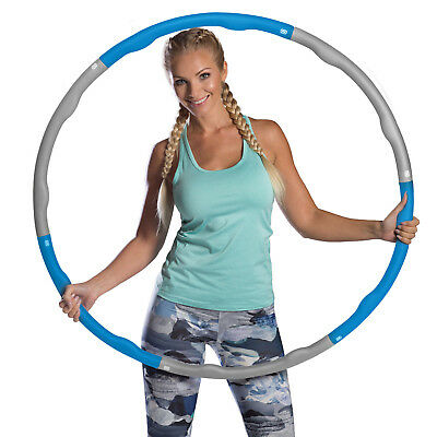 Azure Weighted Hula Hoop 1.2kg Exercise Fitness Foam Padding Workout Massage