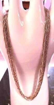 Layered Vintage Sterling Silver 925 Chain Necklace-Beautiful-Lot #K