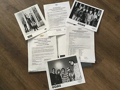 Oasis US Epic Records Promo Pics And Info Sheets Rare STICKER SET With Binder