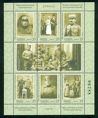 SERBIA 2018  The Album of Remembrance from the FWW , sheet of 6 stamps, MNH