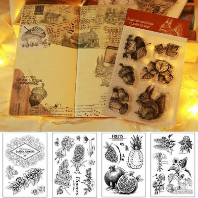DIY Stationery Paper Crafts Transparent Stamp Silicone Rubber Scrapbooking