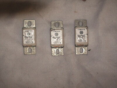 3 BUSSMAN 170M1470 SQUARE   FUSE, 690V/700-VOLT, 200 take out tested good