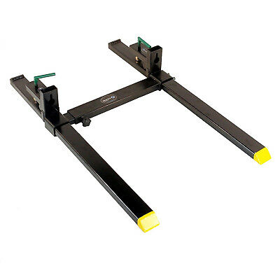 "Titan 43"" HD Clamp On Pallet Forks 4,000 lb Capacity w/ Stabilizer Bar"