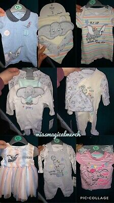 Brand New Baby Primark Disney DUMBO Clothing Romper Bibs Outfit