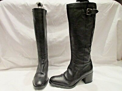 f99bf329762 CLARKS MASCARPONE ELA Black Leather Long Boots Uk 7 D Eu 41 (1999 ...