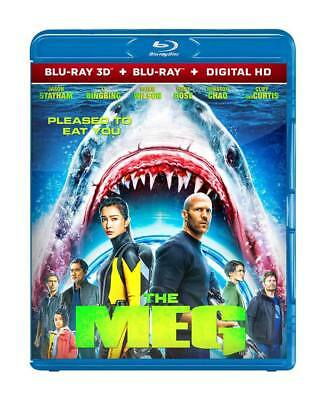 The Meg 2018 ( Blu-Ray 3D + Digital Hd Format ) Region Free