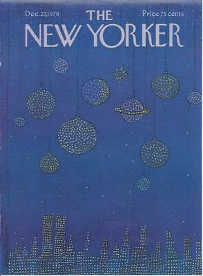 COVER ONLY The New Yorker magazine ~December 27 1976 ~ MIHAESCO ~ Planets WTC