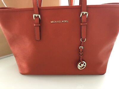 MICHAEL KORS DAMEN Shopper Jet Set Travel Tasche, Pflaume