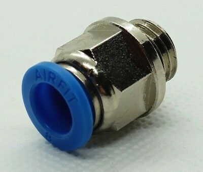 MALE STUD PUSH IN FITTING METRIC 12-22 Tube Inline Push Fit Connector