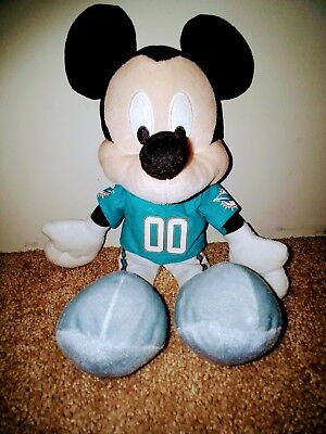 Miami Dolphins Mickey Mouse Disney Plush Doll Collectible