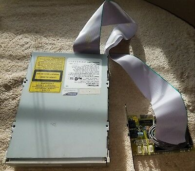 Working Mitsumi CRMC-LU005S CD-ROM Drive IDE w/ Golden Sound Card TopTek Mirco